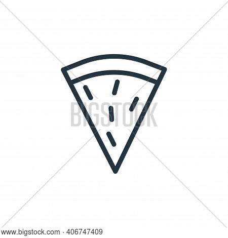 pizza slice icon isolated on white background from food collection. pizza slice icon thin line outli