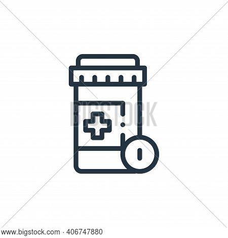 pills icon isolated on white background from medicine collection. pills icon thin line outline linea