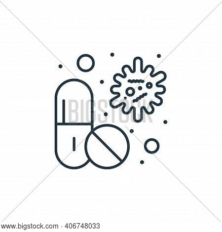 pills icon isolated on white background from coronavirus collection. pills icon thin line outline li