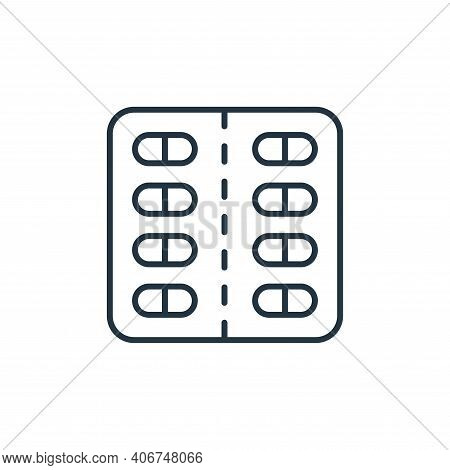 pills icon isolated on white background from retirement collection. pills icon thin line outline lin