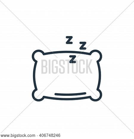 pillow icon isolated on white background from stay at home collection. pillow icon thin line outline