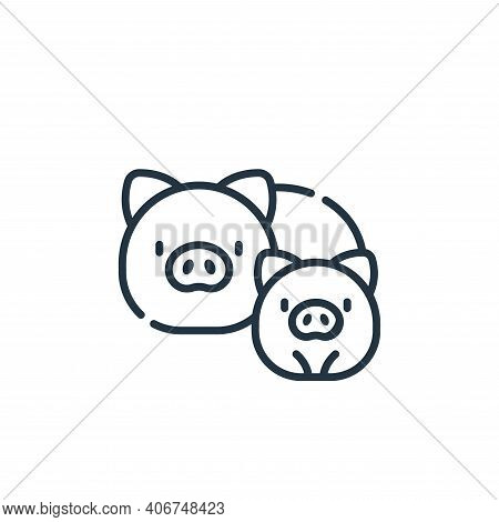 pigs icon isolated on white background from animal welfare collection. pigs icon thin line outline l