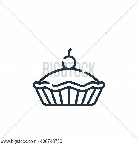 pie icon isolated on white background from england collection. pie icon thin line outline linear pie