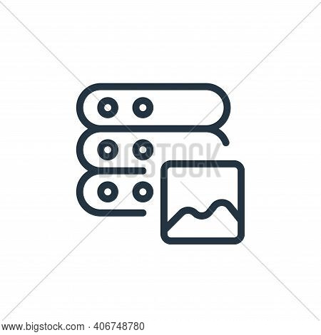 picture icon isolated on white background from work office server collection. picture icon thin line