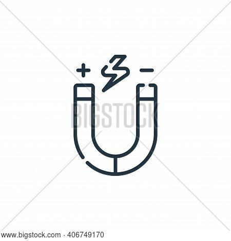 physics icon isolated on white background from academy collection. physics icon thin line outline li