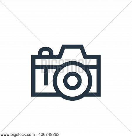 photo camera icon isolated on white background from hippies collection. photo camera icon thin line