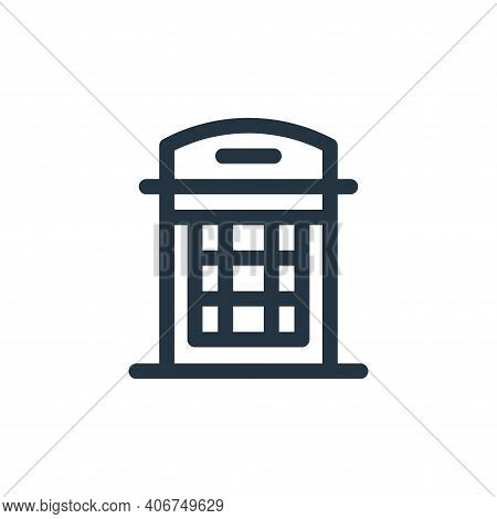 phone box icon isolated on white background from england collection. phone box icon thin line outlin