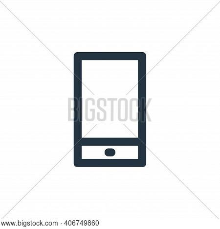 phone icon isolated on white background from multimedia collection. phone icon thin line outline lin