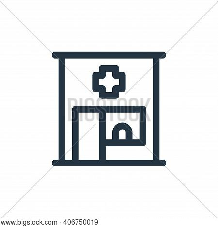 pharmacy icon isolated on white background from medicine collection. pharmacy icon thin line outline