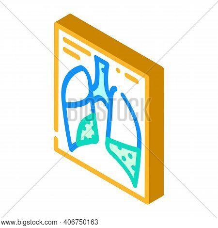 Complications Or Pneumonia Isometric Icon Vector Illustration