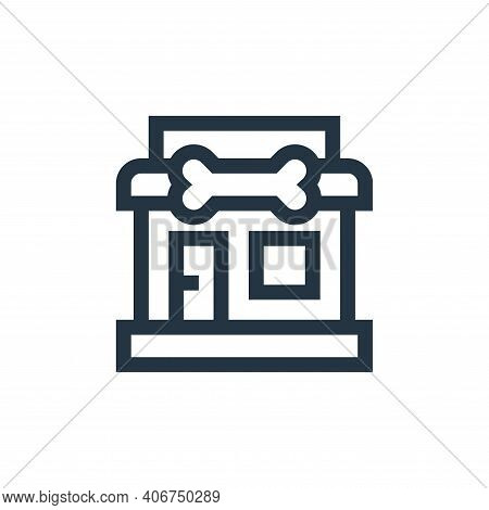 pet shop icon isolated on white background from pet shop collection. pet shop icon thin line outline