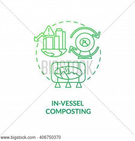 In-vessel Composting Concept Icon. Composting Method Idea Thin Line Illustration. Temperature Levels