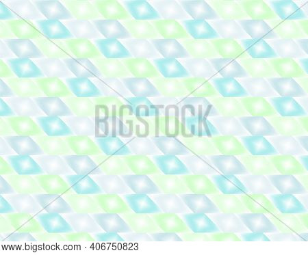 Geometric Pattern Illustration For Decoration In Gradient Blue, Green And Gray Colors, Background An