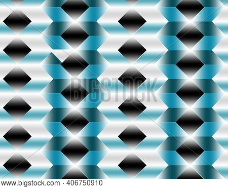 Geometric Pattern Illustration For Decoration In Gradient Blue Colors, Background And Texture