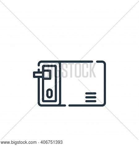 personal icon isolated on white background from database and servers collection. personal icon thin