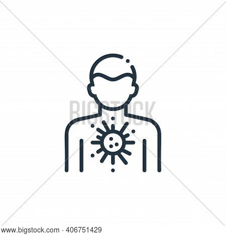 person icon isolated on white background from virus spread collection. person icon thin line outline