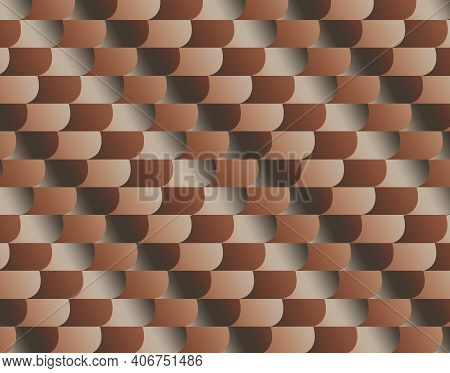 Geometric Pattern Illustration For Decoration In Gradient Brown Colors, Background And Texture
