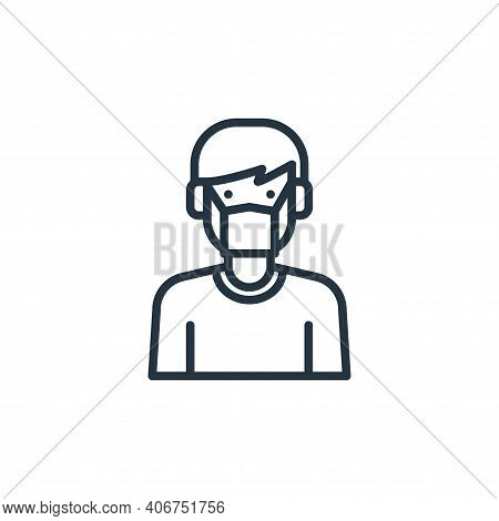 people icon isolated on white background from virus collection. people icon thin line outline linear
