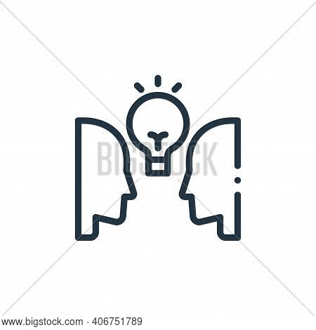 people icon isolated on white background from design thinking collection. people icon thin line outl