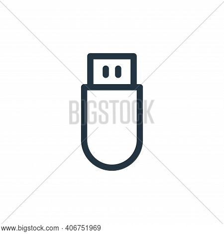 pen drive icon isolated on white background from electronics collection. pen drive icon thin line ou