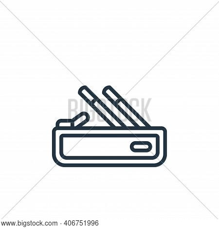 pencil case icon isolated on white background from stationery collection. pencil case icon thin line