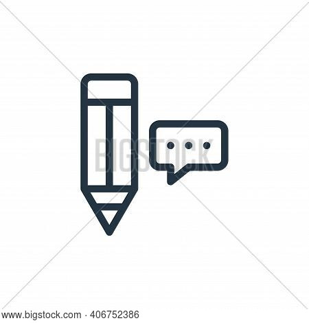 pencil icon isolated on white background from online learning collection. pencil icon thin line outl