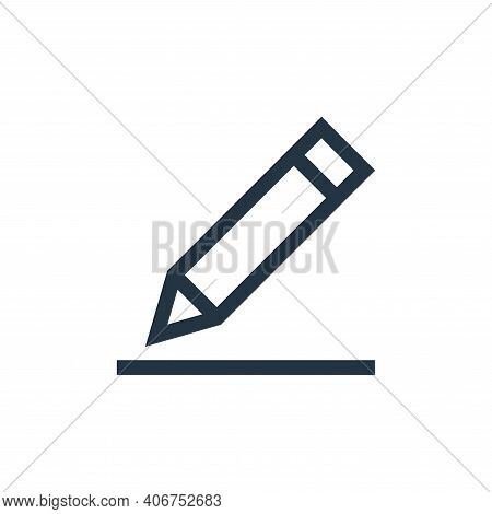 pen icon isolated on white background from text editor collection. pen icon thin line outline linear