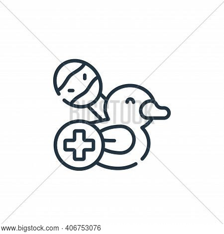 pediatrics icon isolated on white background from medical services collection. pediatrics icon thin