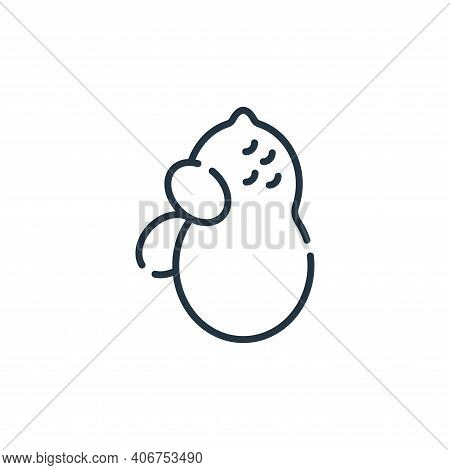 peanut icon isolated on white background from allergies collection. peanut icon thin line outline li