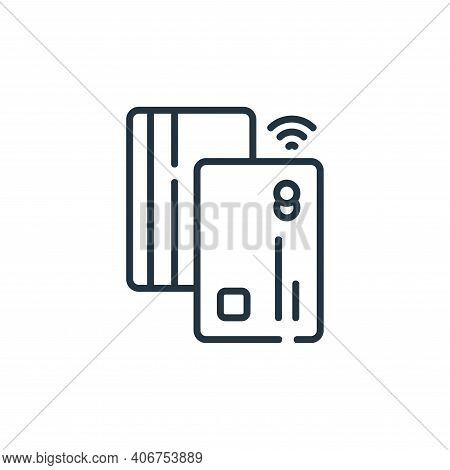 payment method icon isolated on white background from delivery collection. payment method icon thin