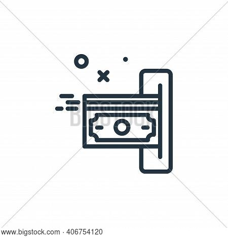 payment icon isolated on white background from work from home collection. payment icon thin line out