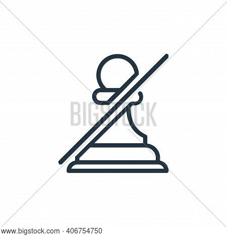 pawn icon isolated on white background from chess game collection. pawn icon thin line outline linea