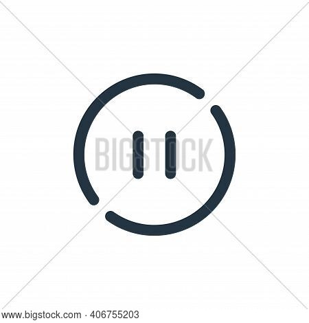 pause icon isolated on white background from sound collection. pause icon thin line outline linear p