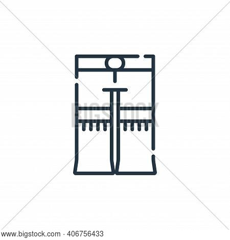 pant icon isolated on white background from hippies collection. pant icon thin line outline linear p