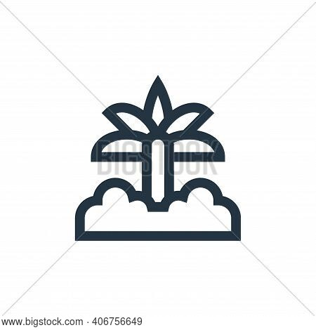 palm tree icon isolated on white background from ramadan collection. palm tree icon thin line outlin