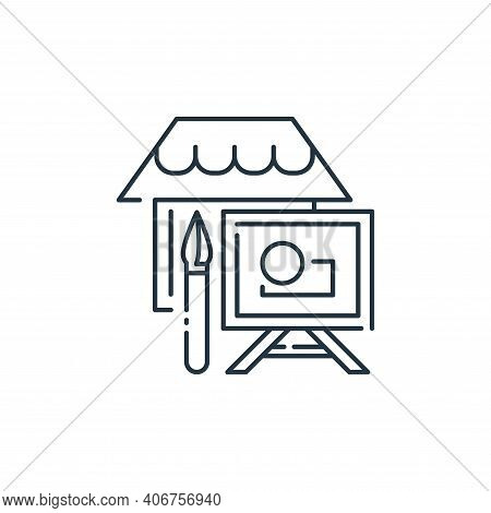 painting icon isolated on white background from stay at home collection. painting icon thin line out