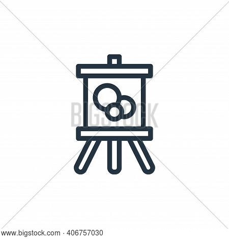 painting icon isolated on white background from hobbies collection. painting icon thin line outline