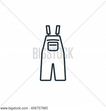 overall icon isolated on white background from clothes and outfit collection. overall icon thin line