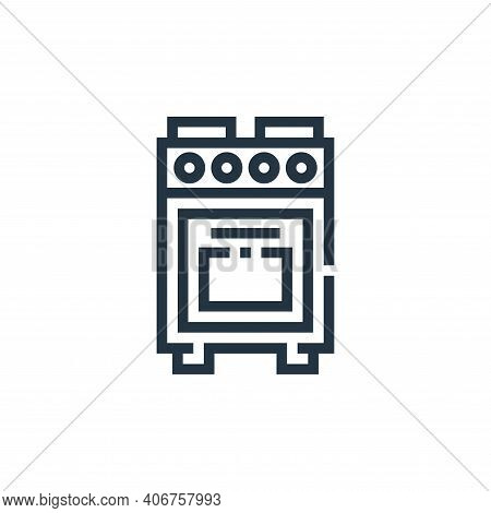 oven icon isolated on white background from inside home collection. oven icon thin line outline line