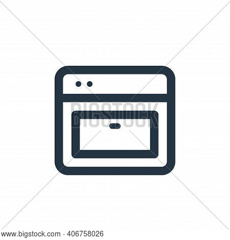 oven icon isolated on white background from electronic and device collection. oven icon thin line ou