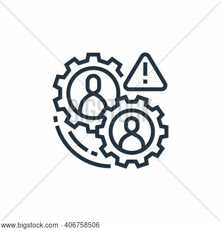 operational risk icon isolated on white background from business risks collection. operational risk