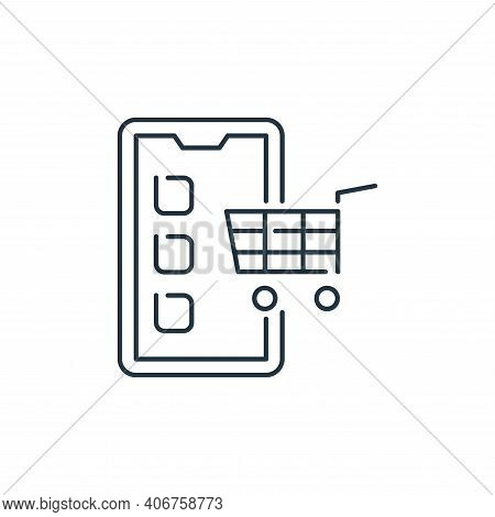 online shopping icon isolated on white background from stay at home collection. online shopping icon