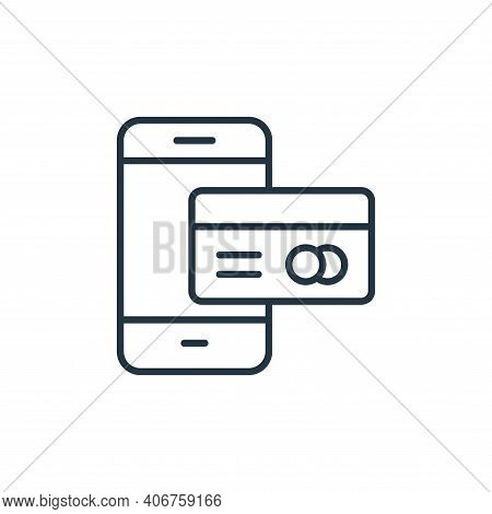 online payment icon isolated on white background from internet of things collection. online payment