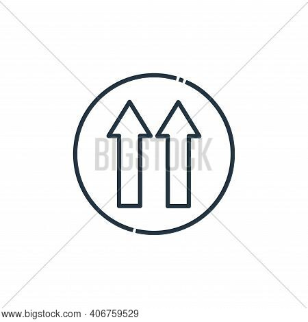 one way icon isolated on white background from signaling collection. one way icon thin line outline