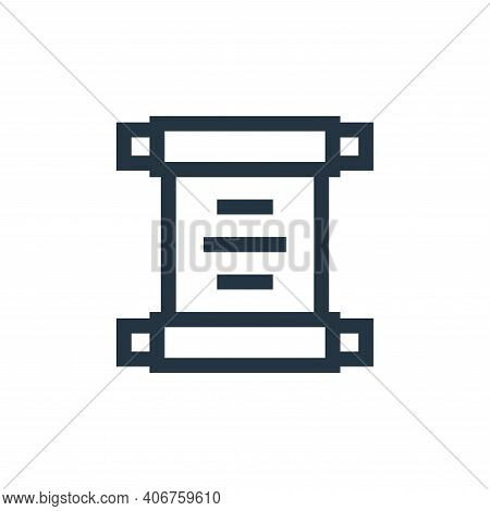 old paper icon isolated on white background from video game elements collection. old paper icon thin