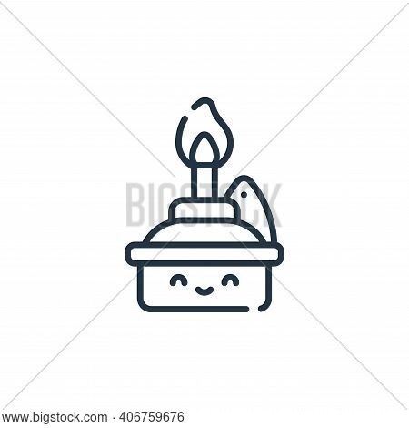 oil lamp icon isolated on white background from ramadan collection. oil lamp icon thin line outline