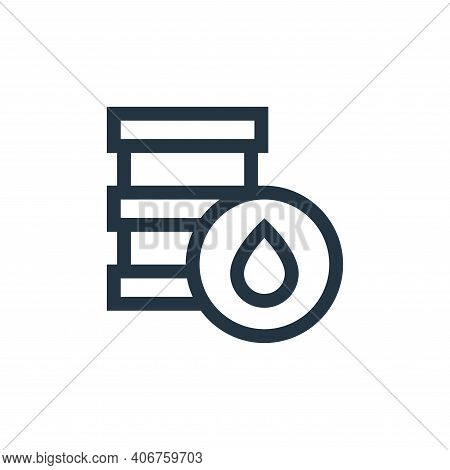 oil barrel icon isolated on white background from mother earth day collection. oil barrel icon thin