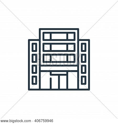 office icon isolated on white background from management collection. office icon thin line outline l