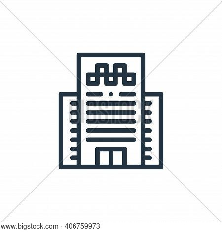 office icon isolated on white background from taxi service collection. office icon thin line outline