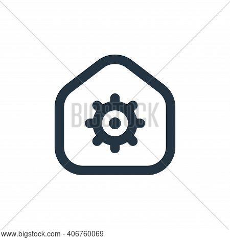 observation icon isolated on white background from stay at home collection. observation icon thin li